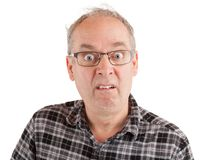 Man is Dumbfounded about Something. Man with a dumbstruck goofy look Royalty Free Stock Photo