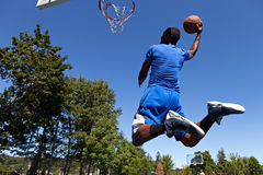 Man Dunking a Basketball Royalty Free Stock Images