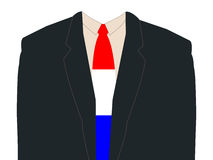 Man with Dutch flag tie Royalty Free Stock Photos