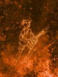Man - Dwarf plaing lute. pencil sketch on paper, Color effect. Original hand draw. Stock Photos