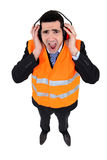 Man  with earmuffs Stock Photo