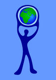 Man Earth (vector) Stock Images