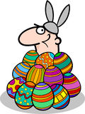 Man in easter bunny costume cartoon Royalty Free Stock Photography