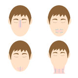 Man easy massage anti face wrinkle 2 Royalty Free Stock Photos