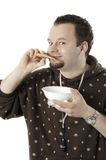 Man eating stock photography