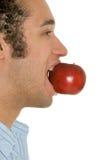 Man Eating Apple Royalty Free Stock Photo