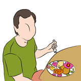 Man Eating Dinner Stock Photography
