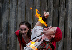 Free Man Eating Fire Stock Photos - 83779393