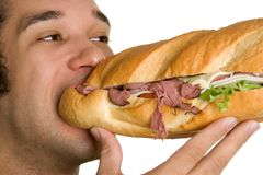 Man Eating Food Royalty Free Stock Photography