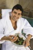 Man Eating Healthy Food Royalty Free Stock Image