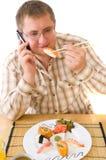 Man Eating an  Japanese Food . Stock Photo