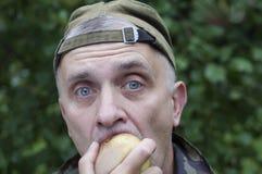 Man Eating Stock Photo