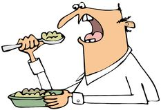 Man eating mush Royalty Free Stock Photo