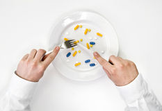 Pills meal. Royalty Free Stock Photo