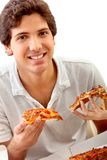 Man eating pizza Stock Photography