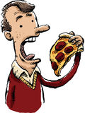 Man Eating Pizza Royalty Free Stock Image