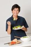 Man Eating Salad Royalty Free Stock Photo