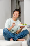 Man Eating Sandwich Royalty Free Stock Image