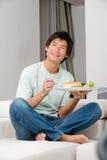 Man Eating Sandwich Royalty Free Stock Image