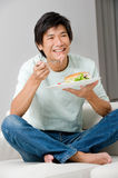 Man Eating Sandwich Royalty Free Stock Photography