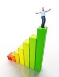 Man on eco stat Stock Photos