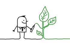 Man & ecology royalty free stock photo