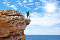 Man on the edge Stock Images