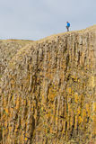 Man on the edge of the cliff - Iceland Royalty Free Stock Image