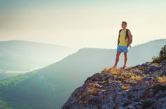 Man on edge Royalty Free Stock Images