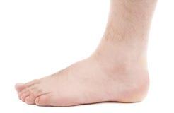 Man with elastic bandage on knee Stock Photography