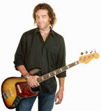 Man with Electric Guitar Royalty Free Stock Images