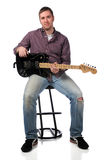 Man with Electric Guitar Stock Photo