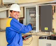 Man electrician stock images