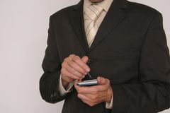 Man with electronic device Royalty Free Stock Image