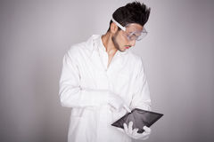 Man electronic technical Stock Photography