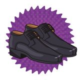Man elegant shoes cartoon vector illustration