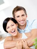 Man embraces his girlfriend Stock Photo