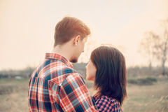 Man embraces a woman Royalty Free Stock Photography