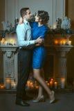 Man embraces a woman. Stock Photo