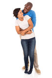 Man embracing girlfriend Royalty Free Stock Images