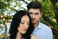 Man embracing his girlfriend Royalty Free Stock Photography