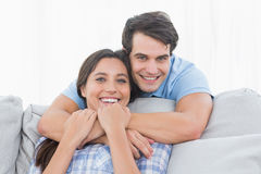Man embracing his partner Royalty Free Stock Image