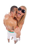 Man embracing woman Royalty Free Stock Images