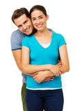 Man Embracing Woman From Behind Stock Photo