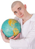 Man embracing the world Royalty Free Stock Photography