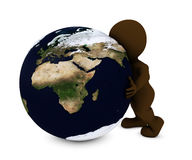 Man embracing the world. 3D Render of Man embracing the world Stock Photo