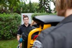 Man Emergency Worker Stock Photo