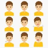 Man Emojis Vector Set vector illustration
