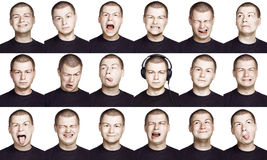 Man - emotion face. Emotion face of a man - fine-art portrait Royalty Free Stock Images