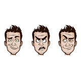 Man Emotions Set Stock Images